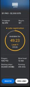 888poker timer